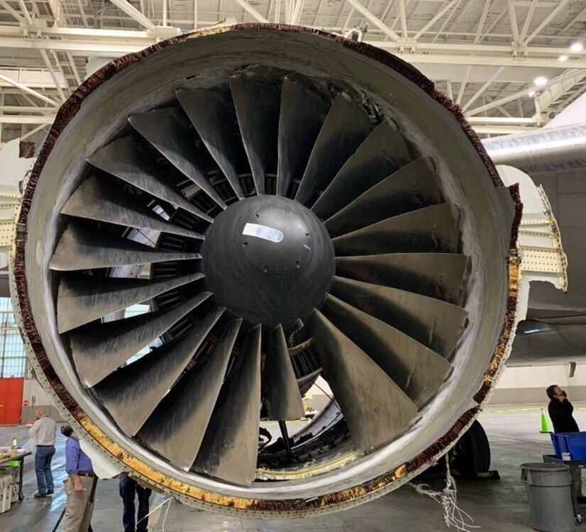 Multiple cracks found in parts of United jet's engine from wear and tear