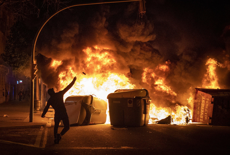 Spain arrests 80 in 3 riot nights over rapper's arrest