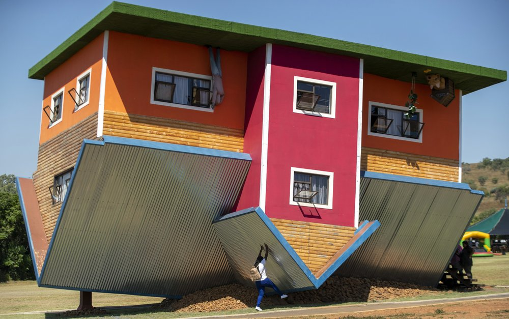 South Africa's upside-down house is attracting tourists