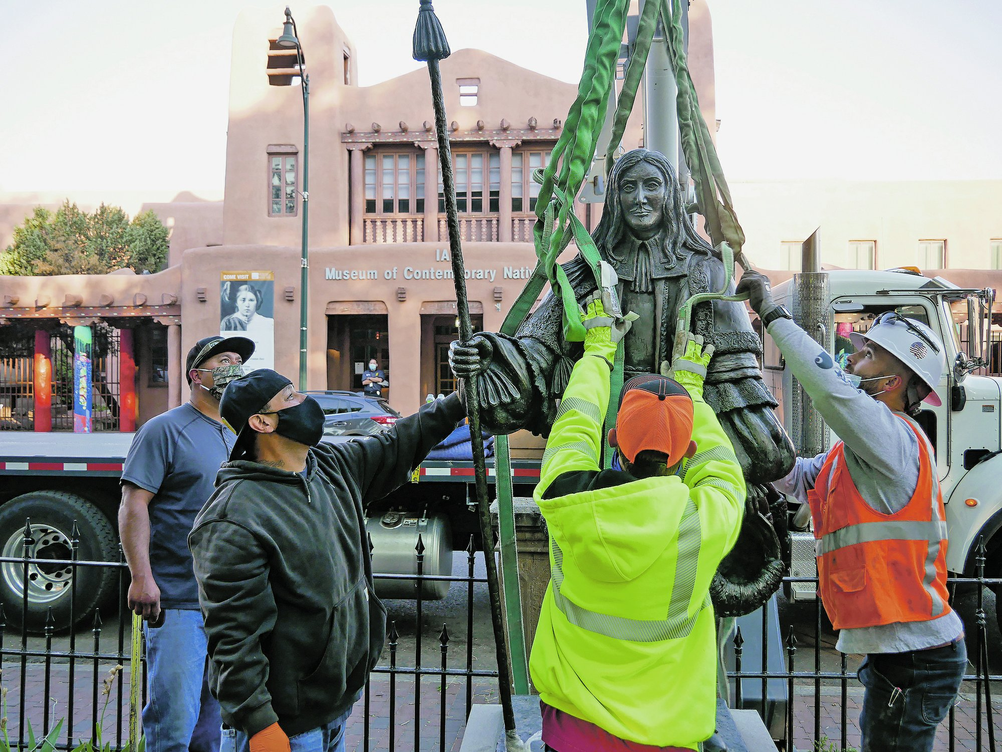 Statue Of Spanish Governor Removed From New Mexico Park