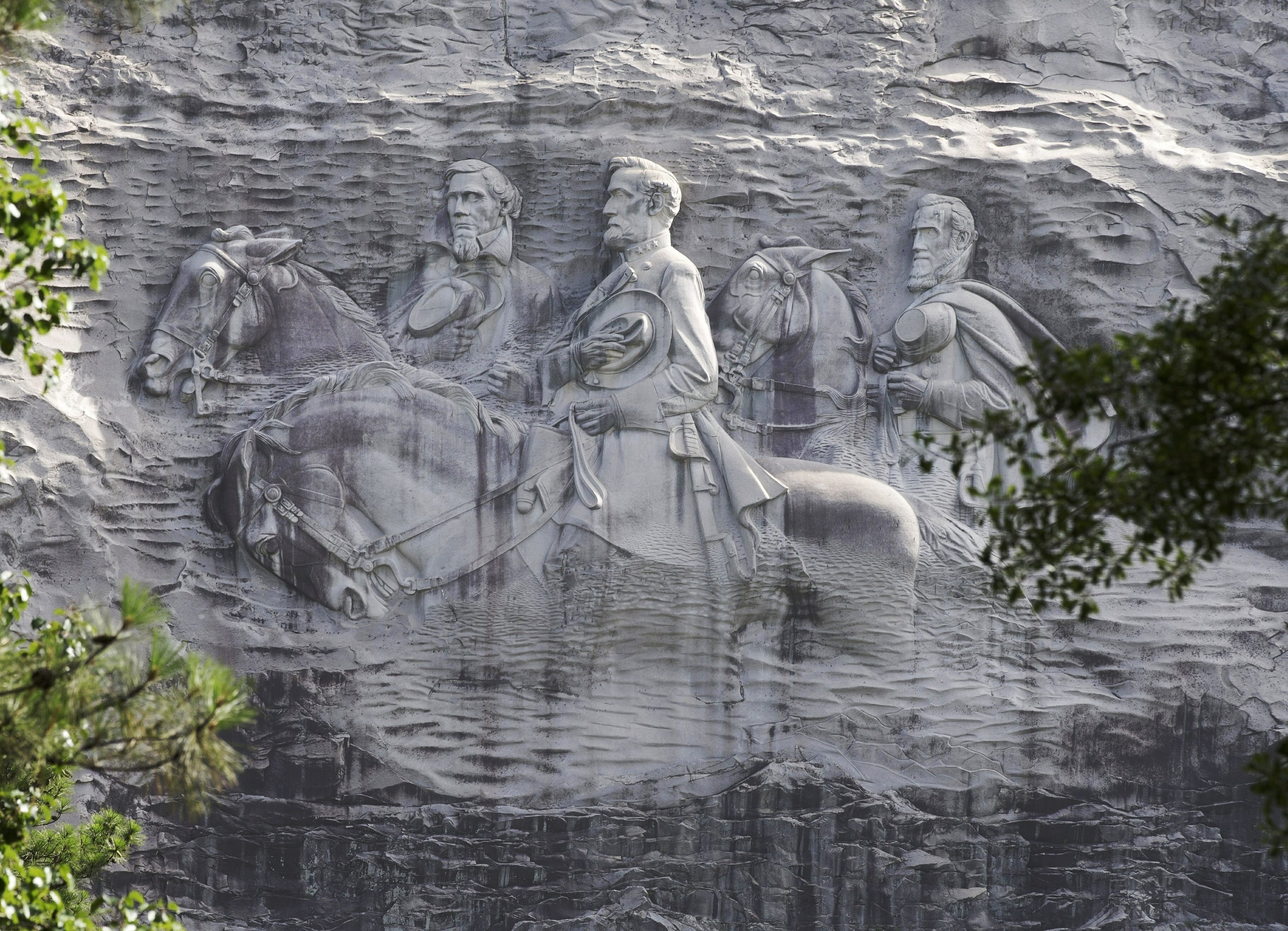 Armed protesters march through Georgia's Stone Mountain Park