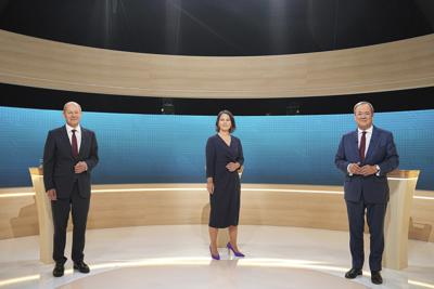 3 contrasting candidates seek chancellery in German election