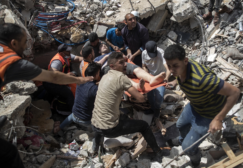 Israeli strikes kill 37, topple buildings in Gaza City