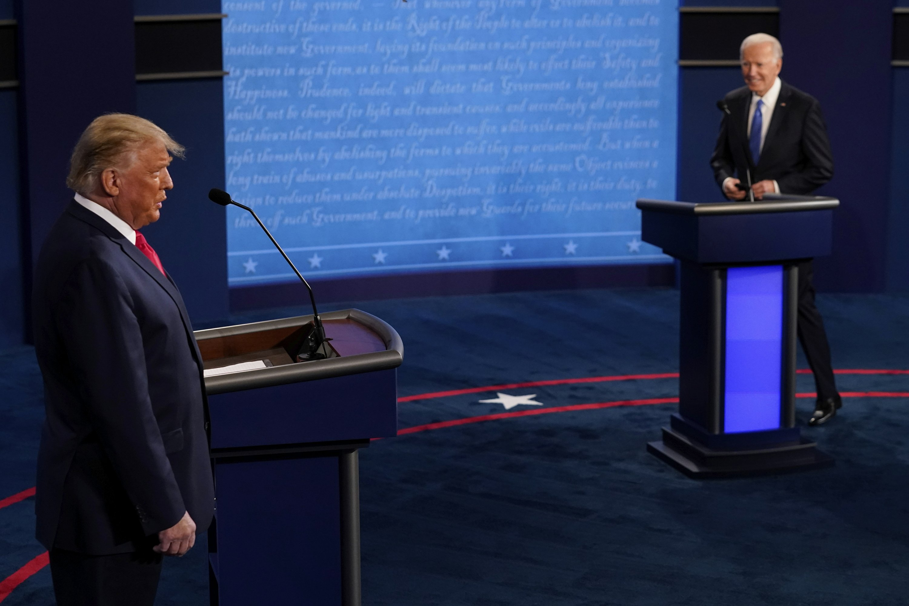 The Latest: Biden clarifies debate answer on fossil fuels