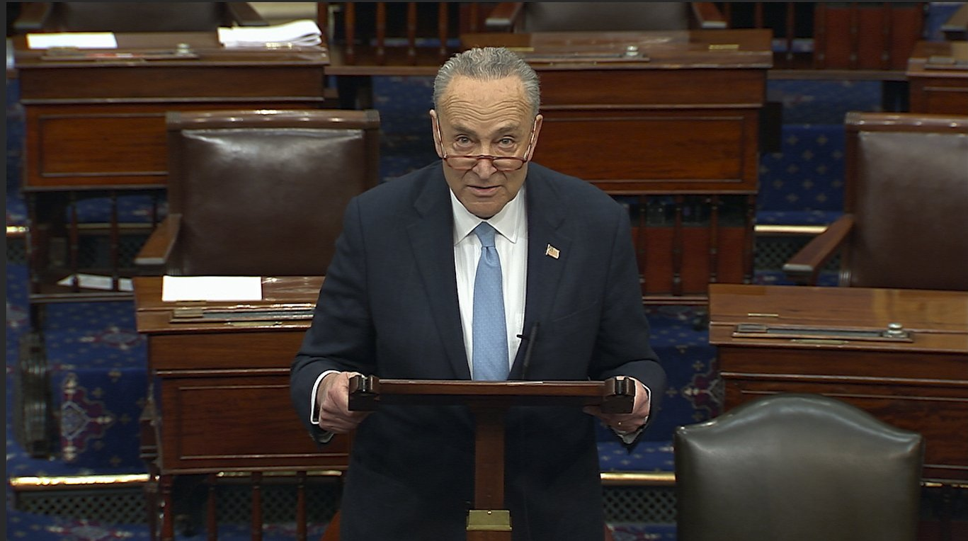 "Chuck Schumer says he ""should not have used the words I used"" in reference to the two justices for their decisions in an abortion case"