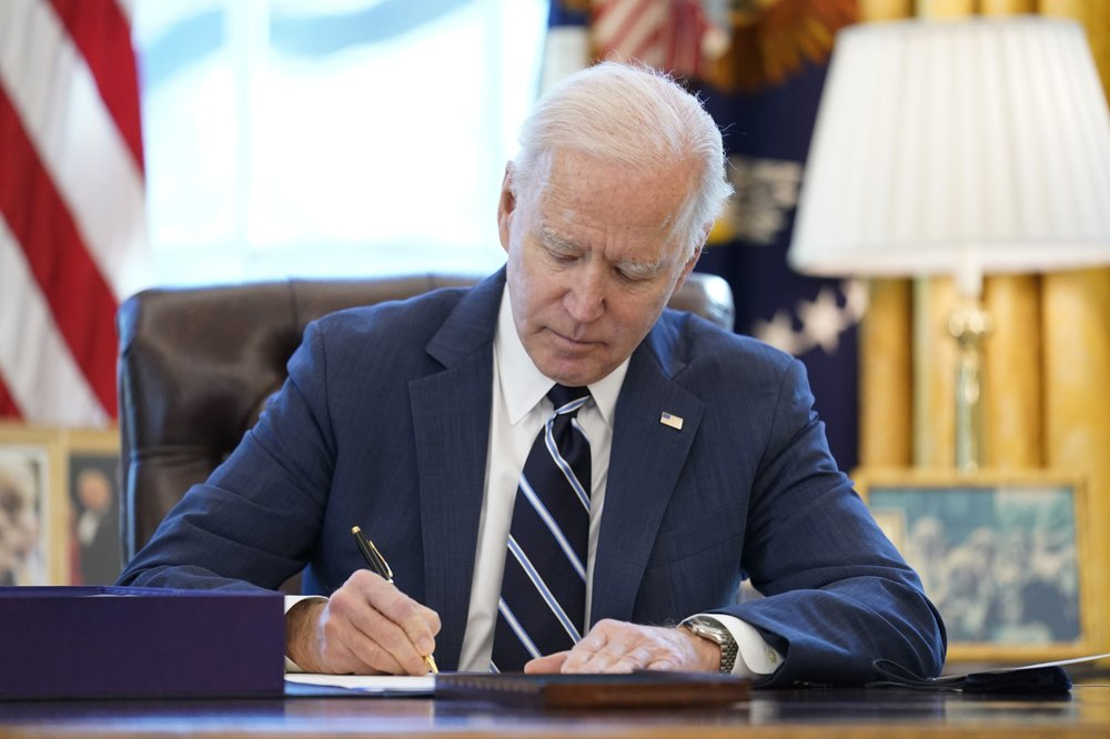President Biden signs .9T relief bill before prime-time address to nation