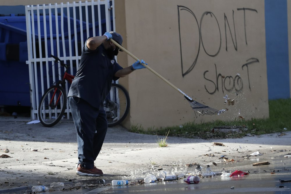 Florida's aftermath of protests following George Floyd's senseless murder