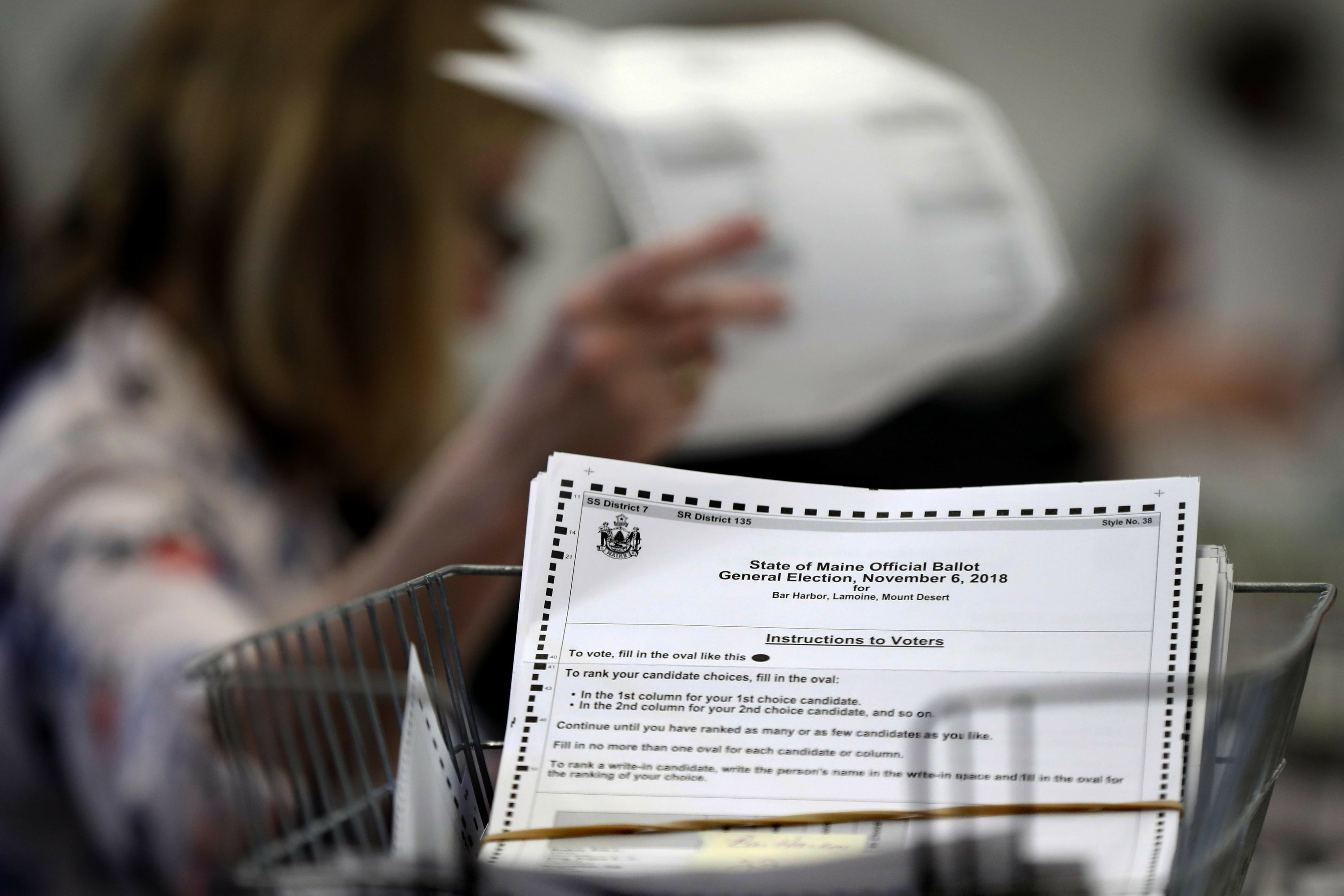 Ranked choice voting in Maine a go for presidential election