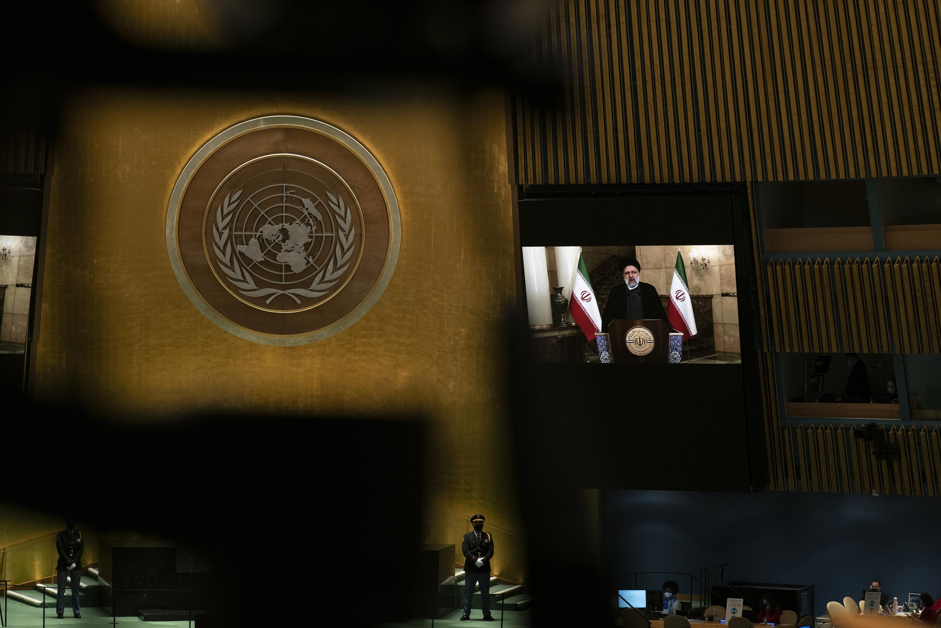Iran's president slams US in first speech to UN as leader