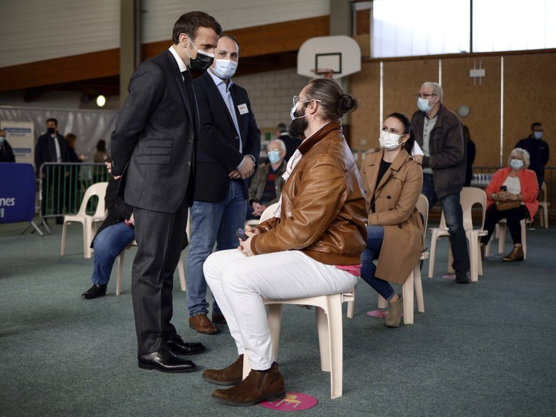 President Emmanuel Macron pushing for mass vaccinations in NOrthenr France and Paris region