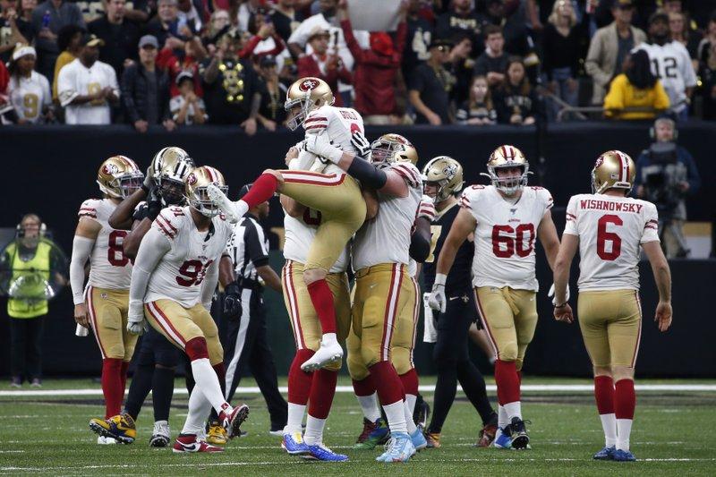 Garoppolo S 4 Td Passes Help 49ers Top Saints 48 46