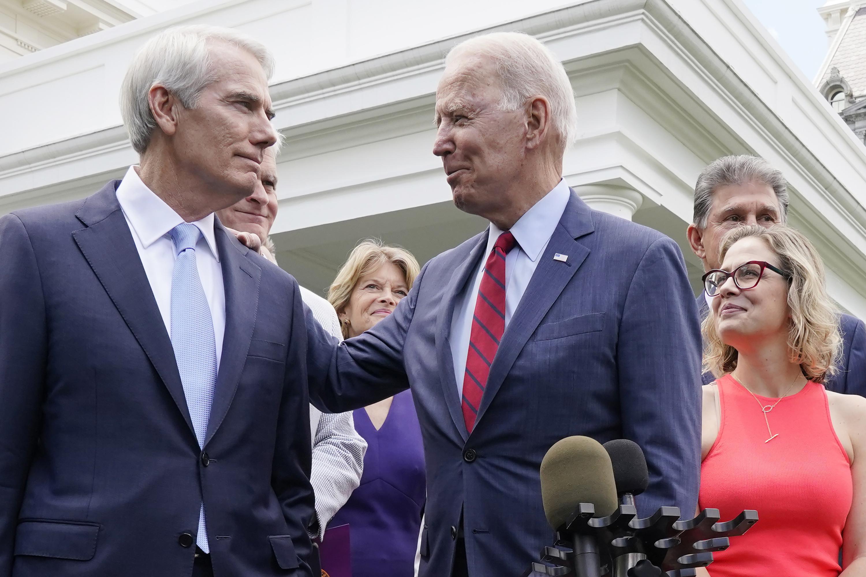 Senator: Bipartisan infrastructure bill loses IRS provision - Associated Press