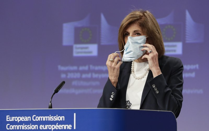 The European Commission suspended the delivery of 10 million Chinese masks to member states and Britain after two countries complained about the masks' poor quality