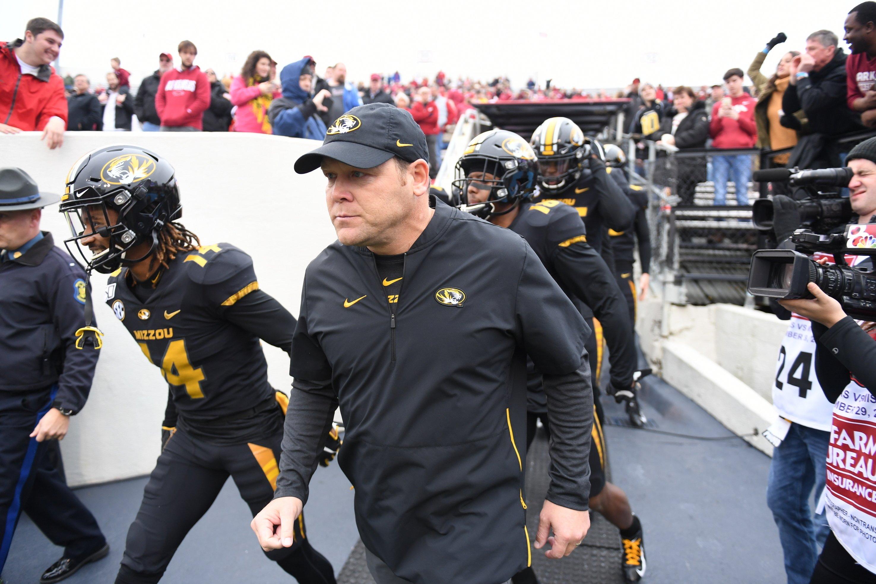 Missouri fires football coach Barry Odom after 4 seasons