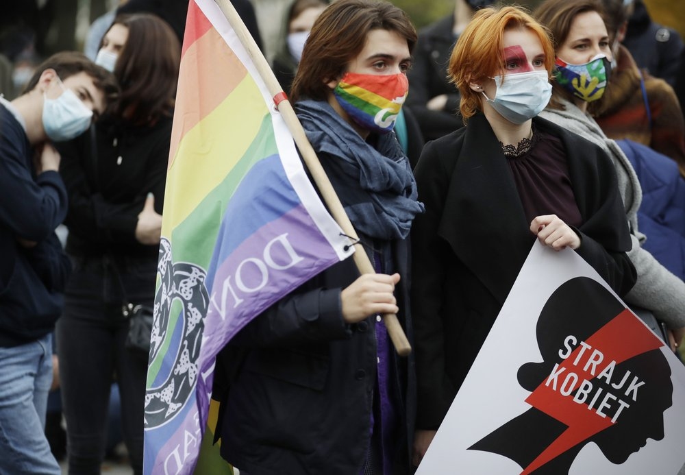 Poland's leader wants churches defended amid protests over country's restrictive abortion laws