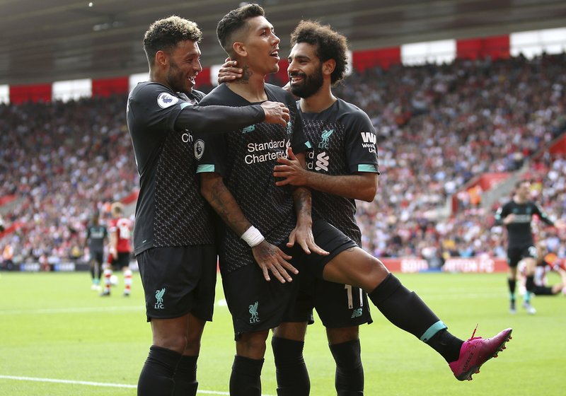 Liverpool beats Southampton 2-1 for 2nd win to open EPL