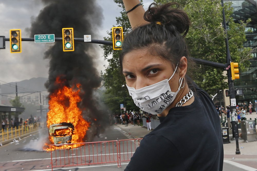 Curfew enforced after volatile protests in Salt Lake City