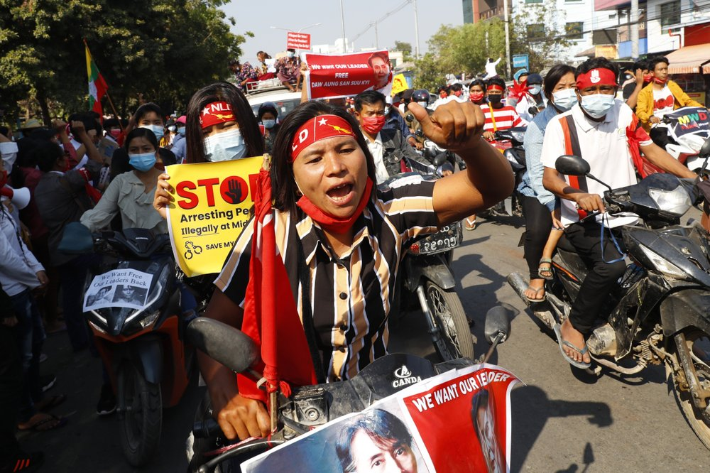 Myanmar enters 2nd week of protests, neither side backing down