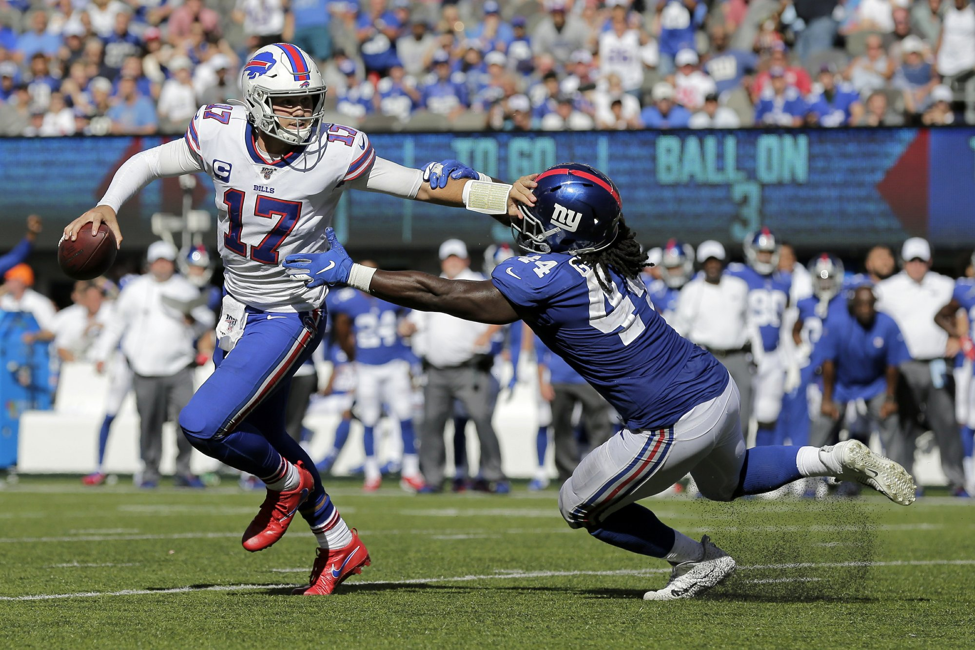 Allen credited for not forcing throws in Bills' latest win