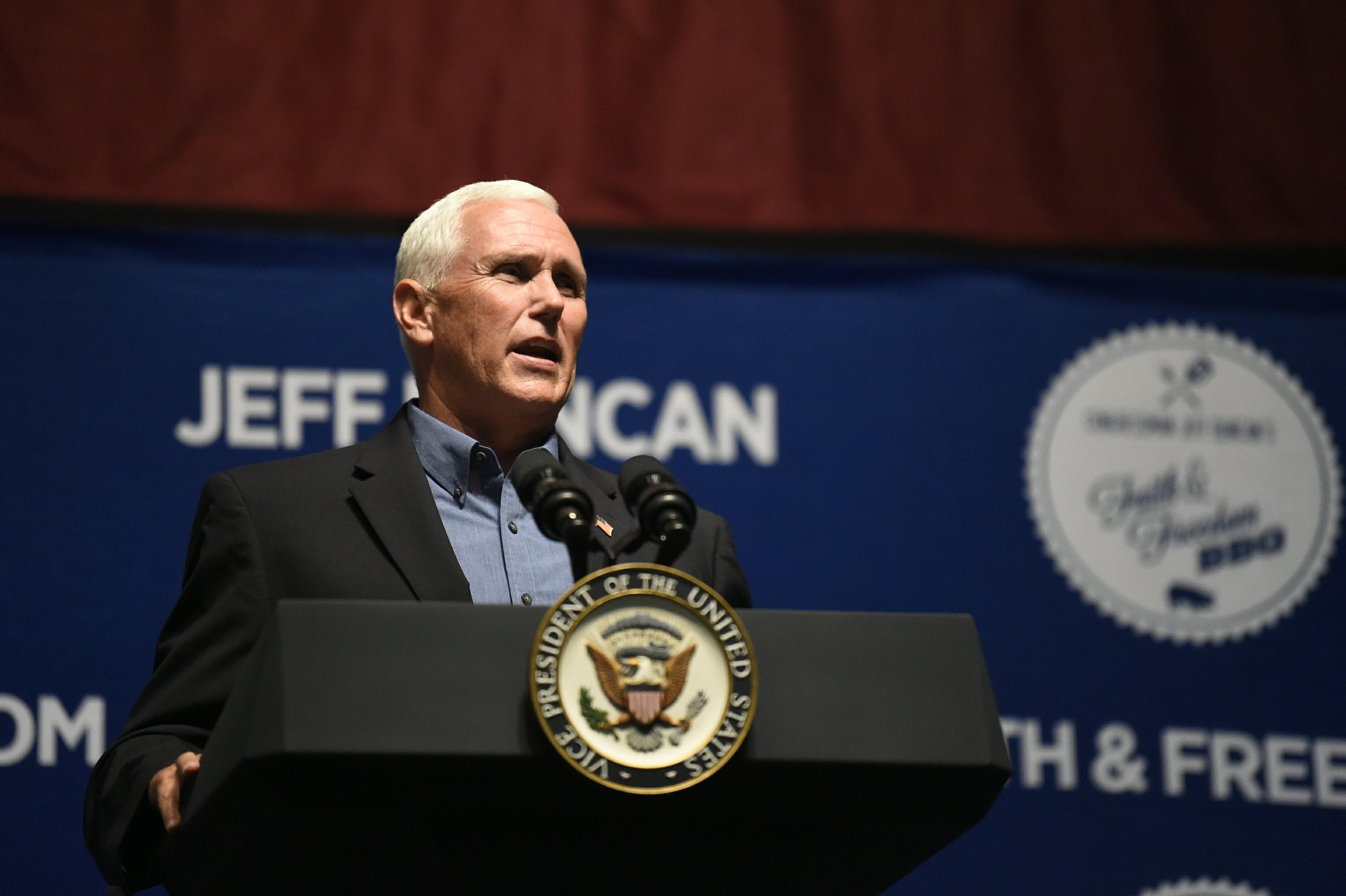 Pence says Trump a better choice than any Democratic nominee