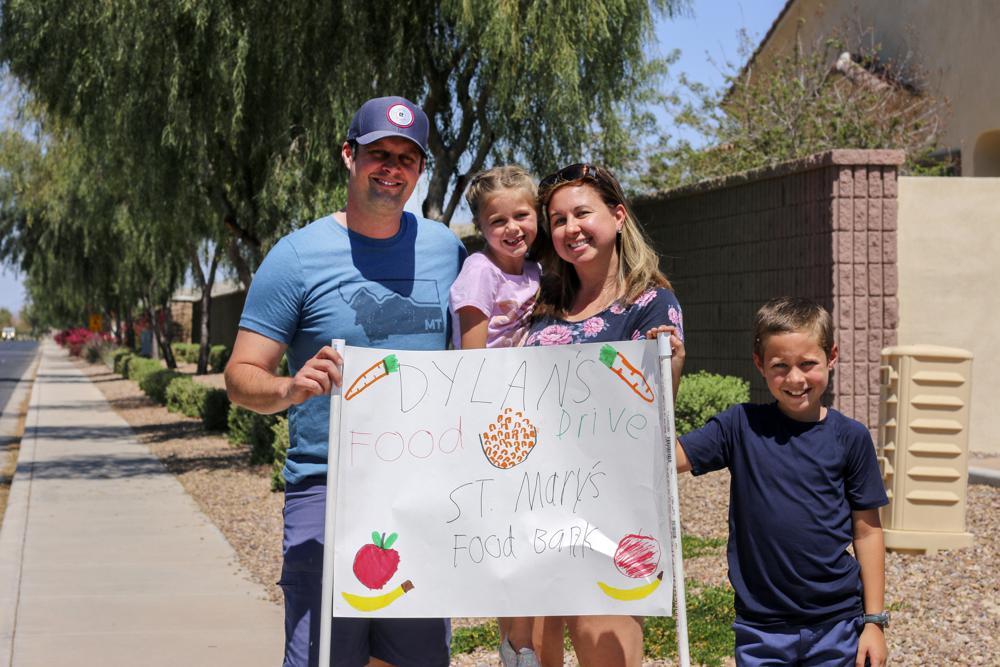 Arizona 8-Year-Old Holds Food Drives to Help Feed Hungry During Coronavirus