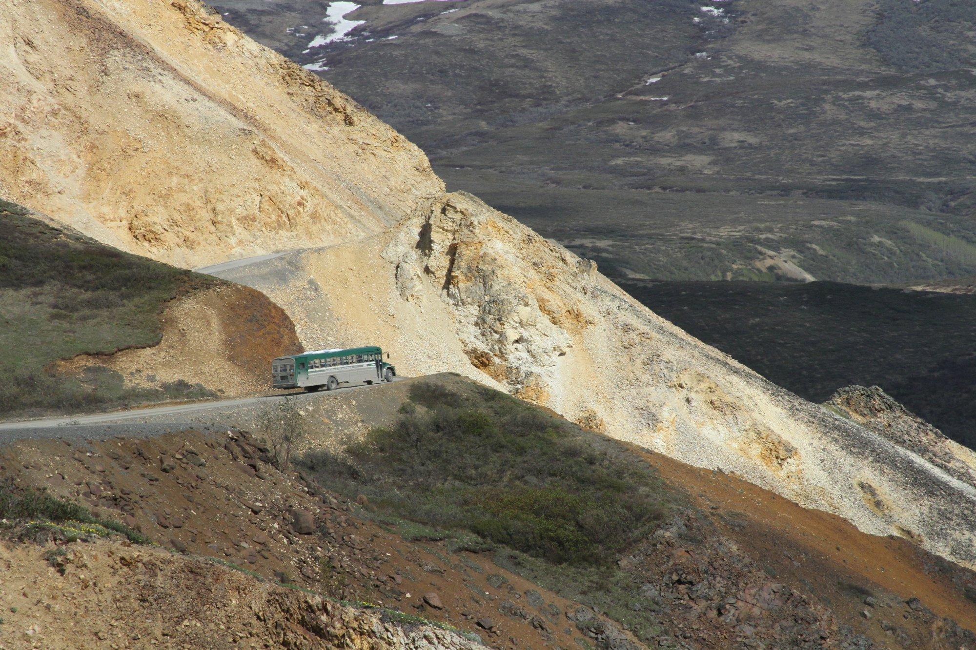 Crews reopen Denali park road; stranded tourists leave