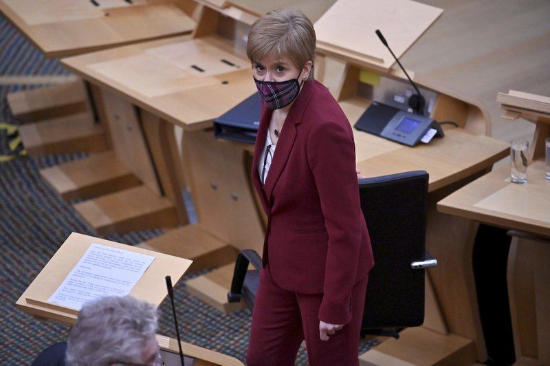 Scotland's leader vows to push for second independence vote from the U.K.