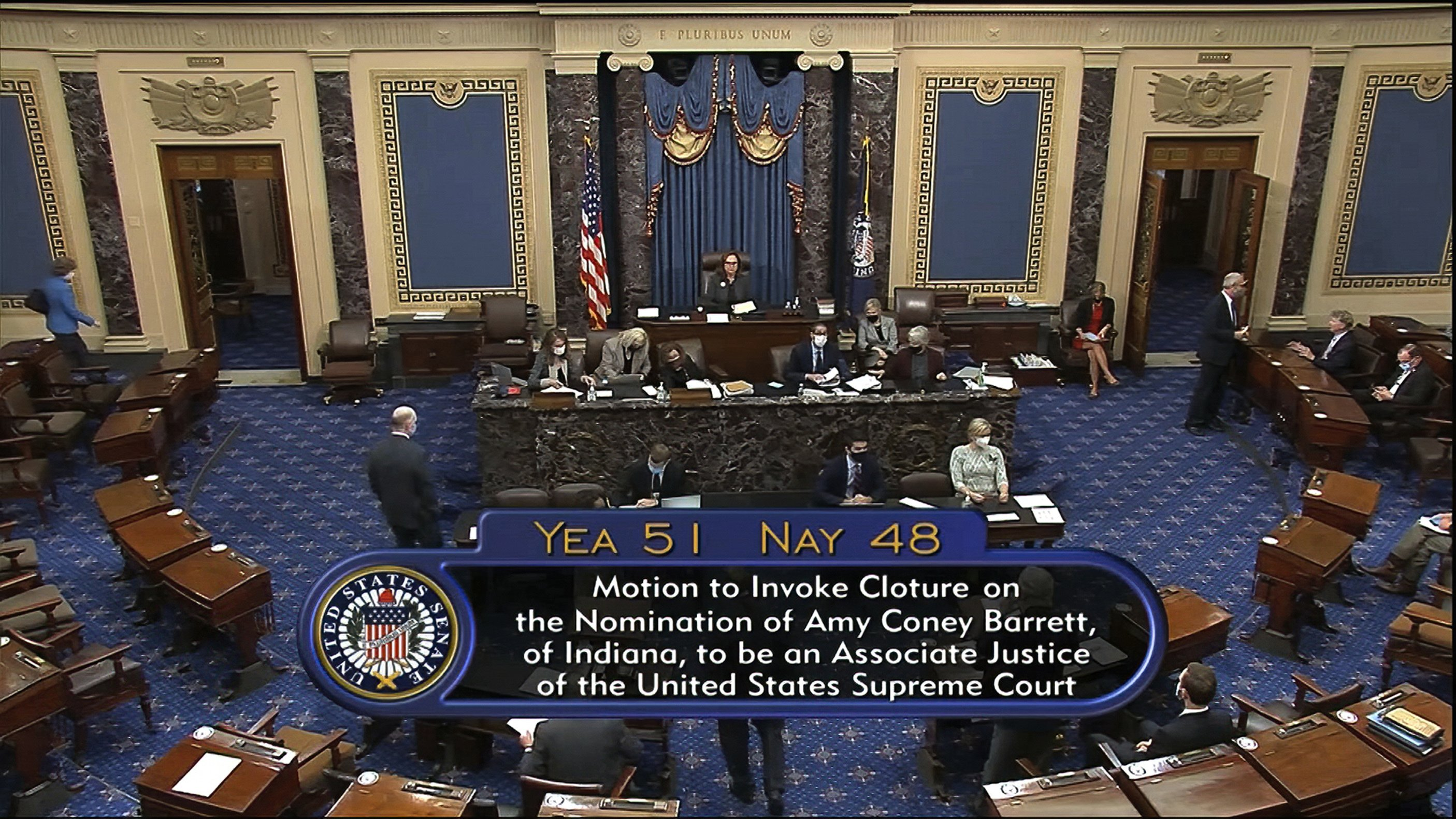 BREAKING: Senate advances Supreme Court nominee Amy Coney Barrett in near party-line vote; confirmation Monday all but assured.