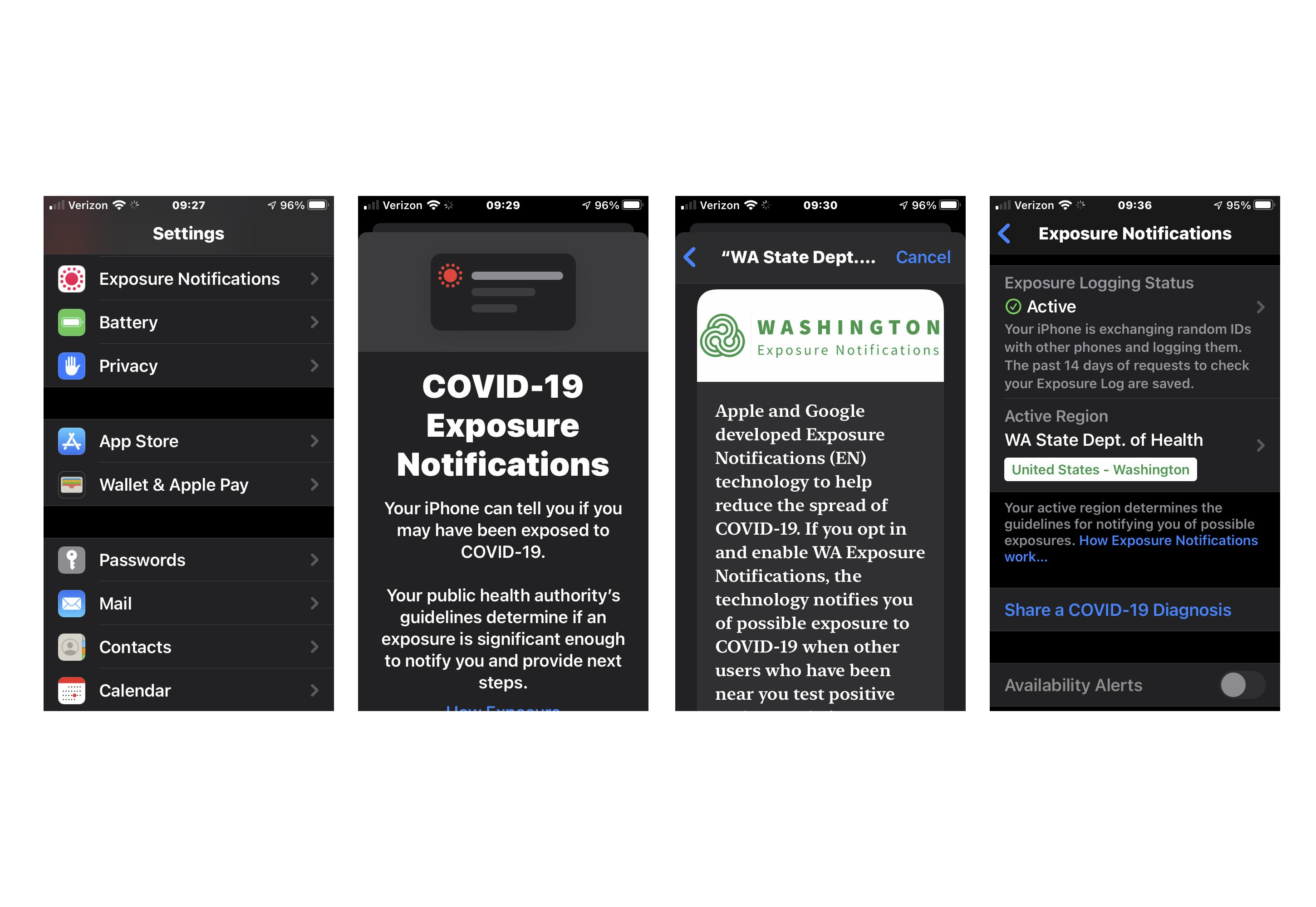 Washington Launches Statewide Covid 19 Notification App