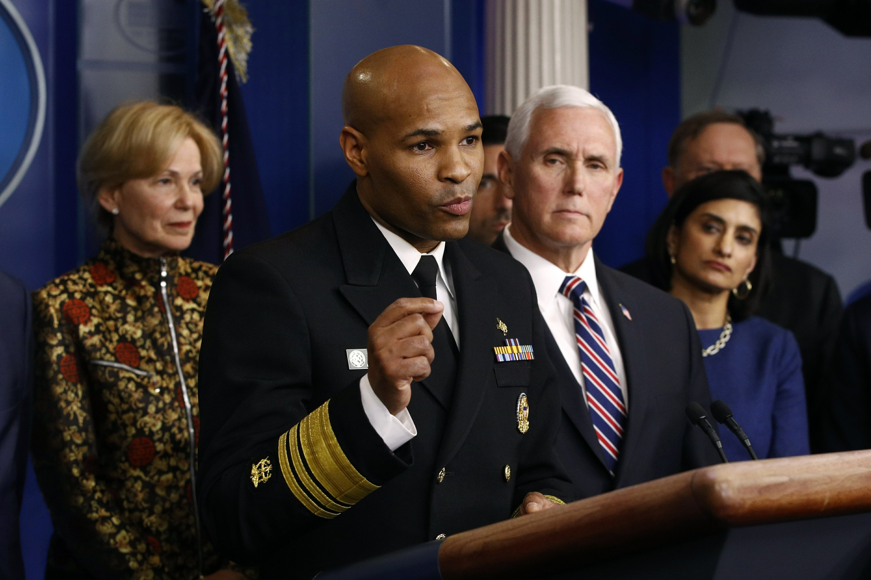 US Surgeon General Dr. Jerome Adams Urges Caution on US Coronavirus Plague Death Rate