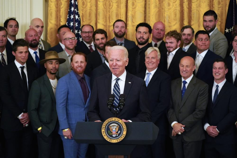2020 World Series Champion Los Angeles Dodgers Become First Team to Visit President Biden's White House