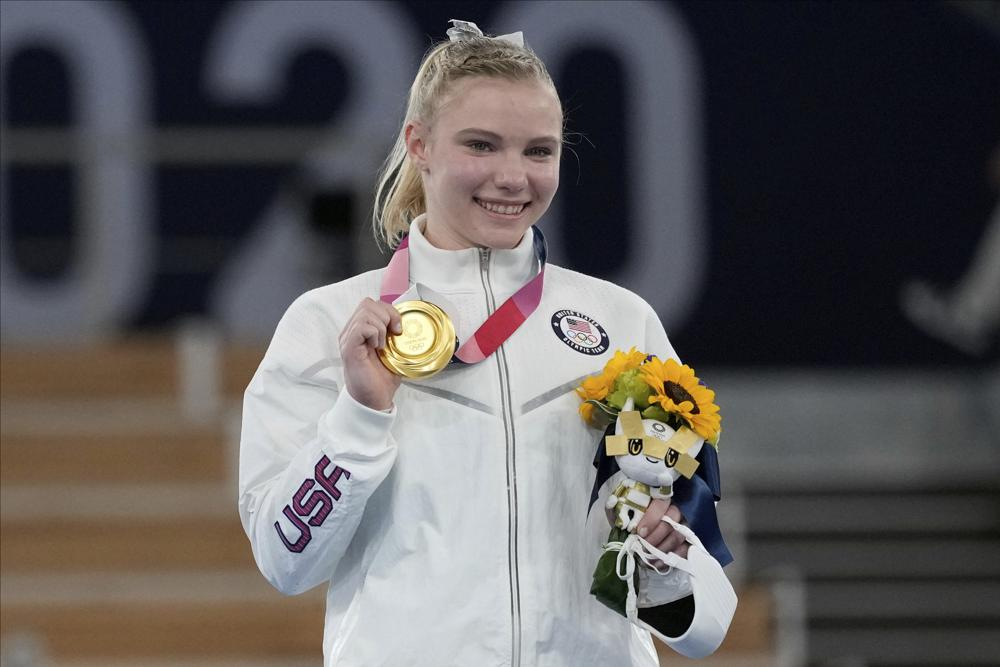Jade Carey Wins Gold for Team USA in Floor Exercise Final