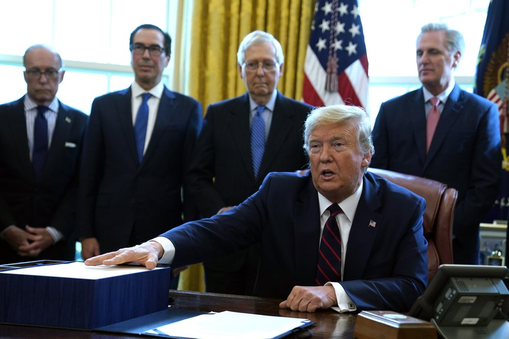 President Trump signs $2.2 trillion economic rescue package into law