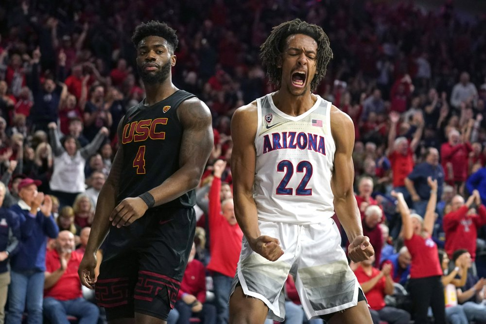 Arizona's freshman big man, Zeke Nnaji also played well in his team's loss to USC.  (Photo: Rick Scuteri/AP Photo.)