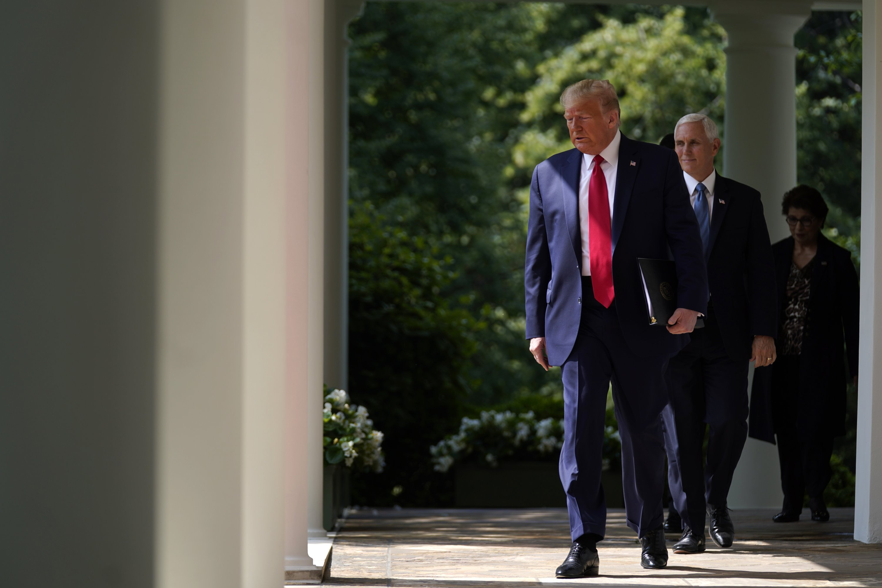 Trump evokes Floyd after hailing strong jobs report