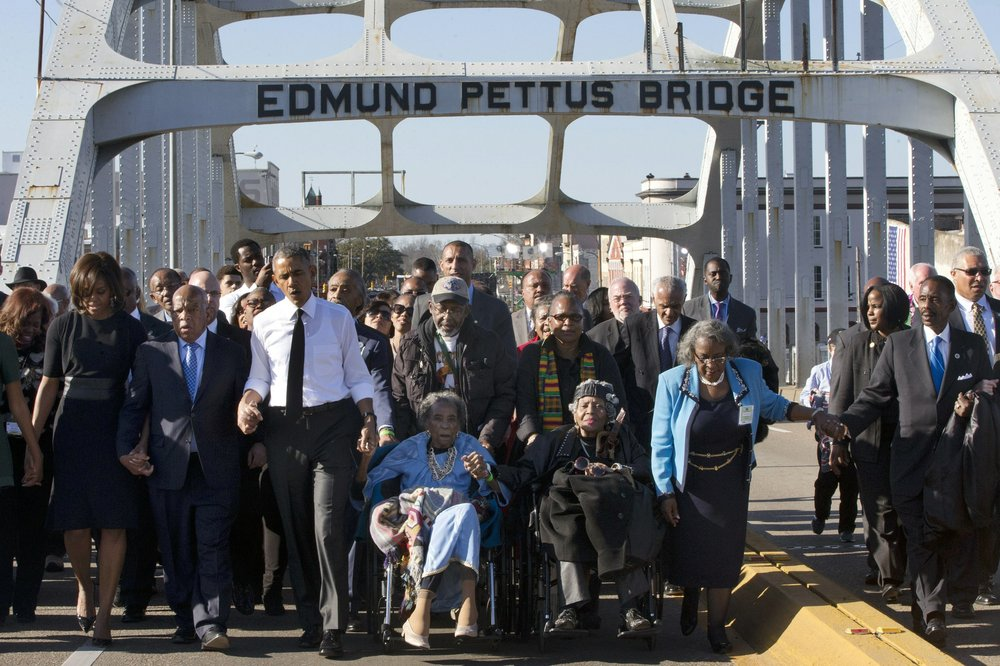 "The push continues to rename the Edmund Pettus Bridge in honor of Rep. John Lewis, who led the 1965 marchers on ""Bloody Sunday"
