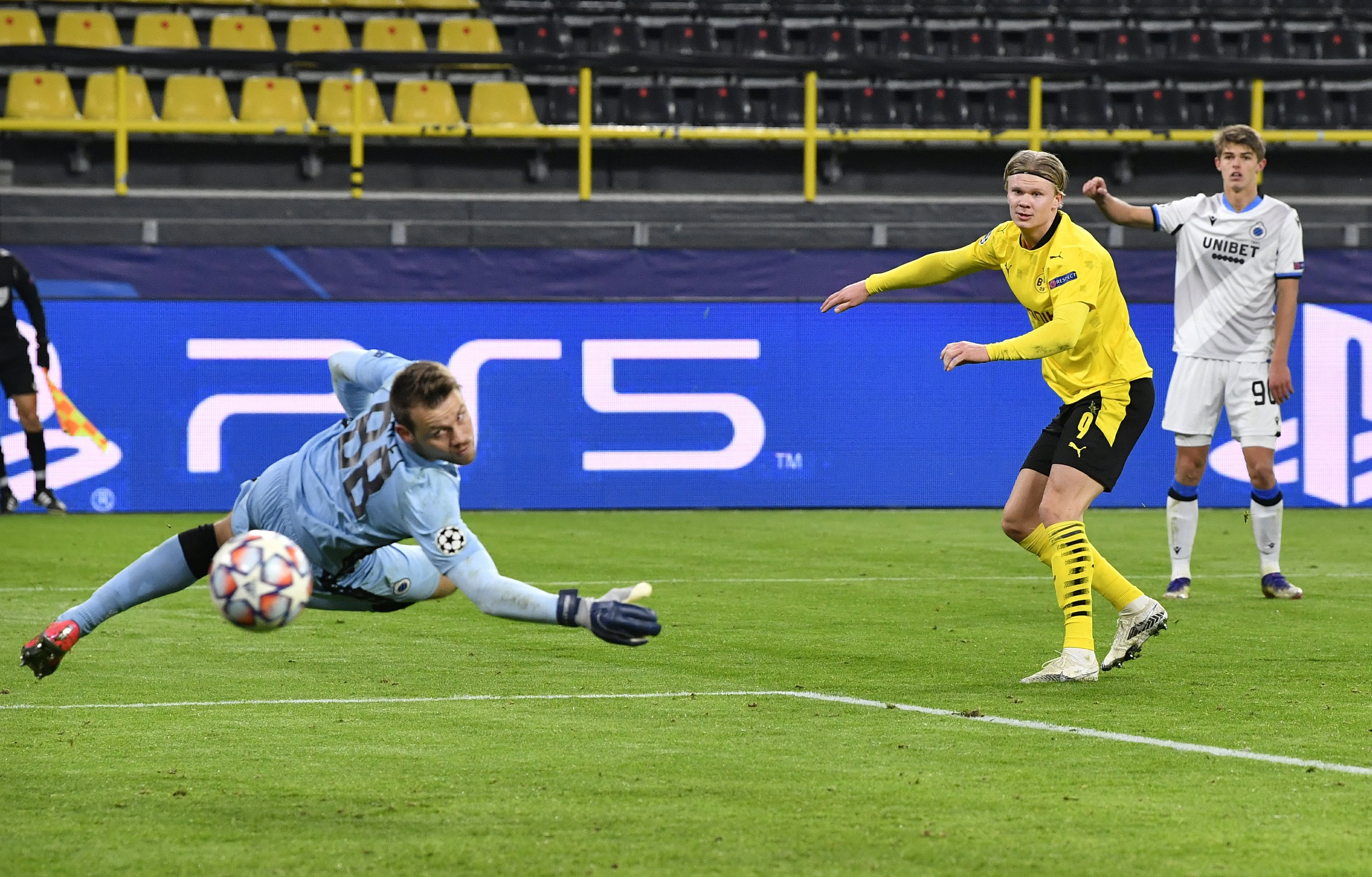 Haaland hits 2 as Dortmund beats Brugge in Champions League
