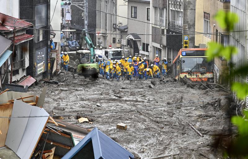 Several People Missing After Mudslide Buries Houses In Japan