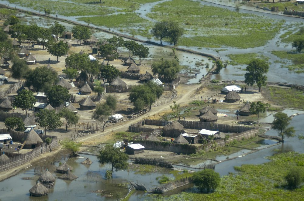 Some 1 million people in South Sudan displaced/isolated for months by the worst flooding in memory