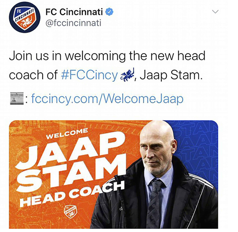 Bald truth: Cincinnati MLS team tweets wrong photo of coach