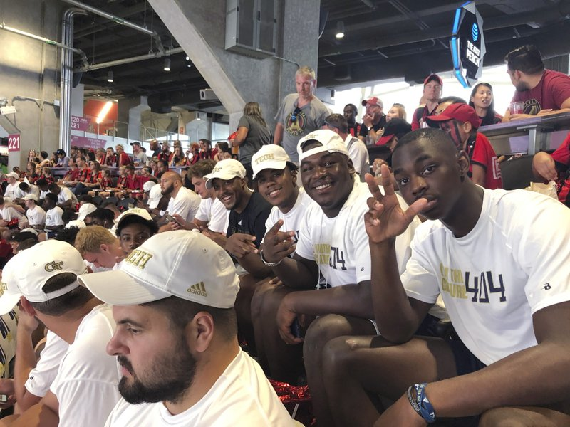 Ga Tech football team takes in different kind of football