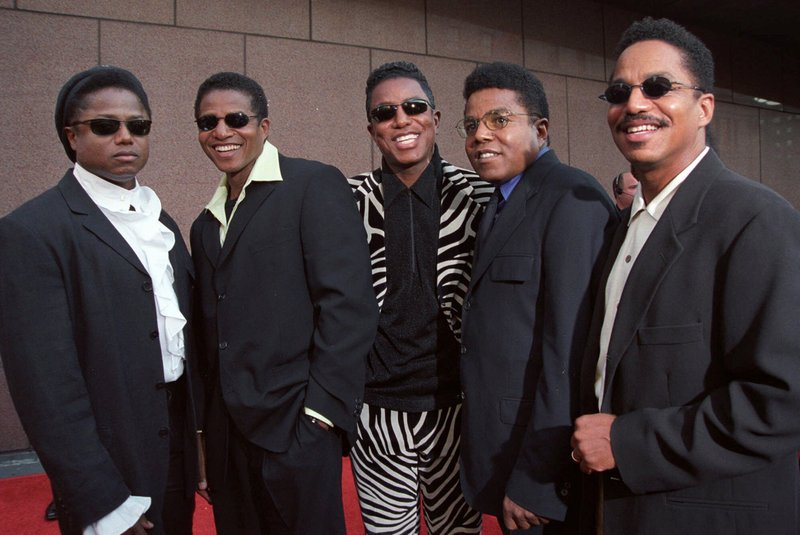 FILE - In this Sept. 7, 2001 file photo, the Jackson Five, from left, Randy Jackson, Jackie Jackson, Jermaine Jackson, Tito Jackson and Marlon Jackson, arrive for their brother Michael Jackson's