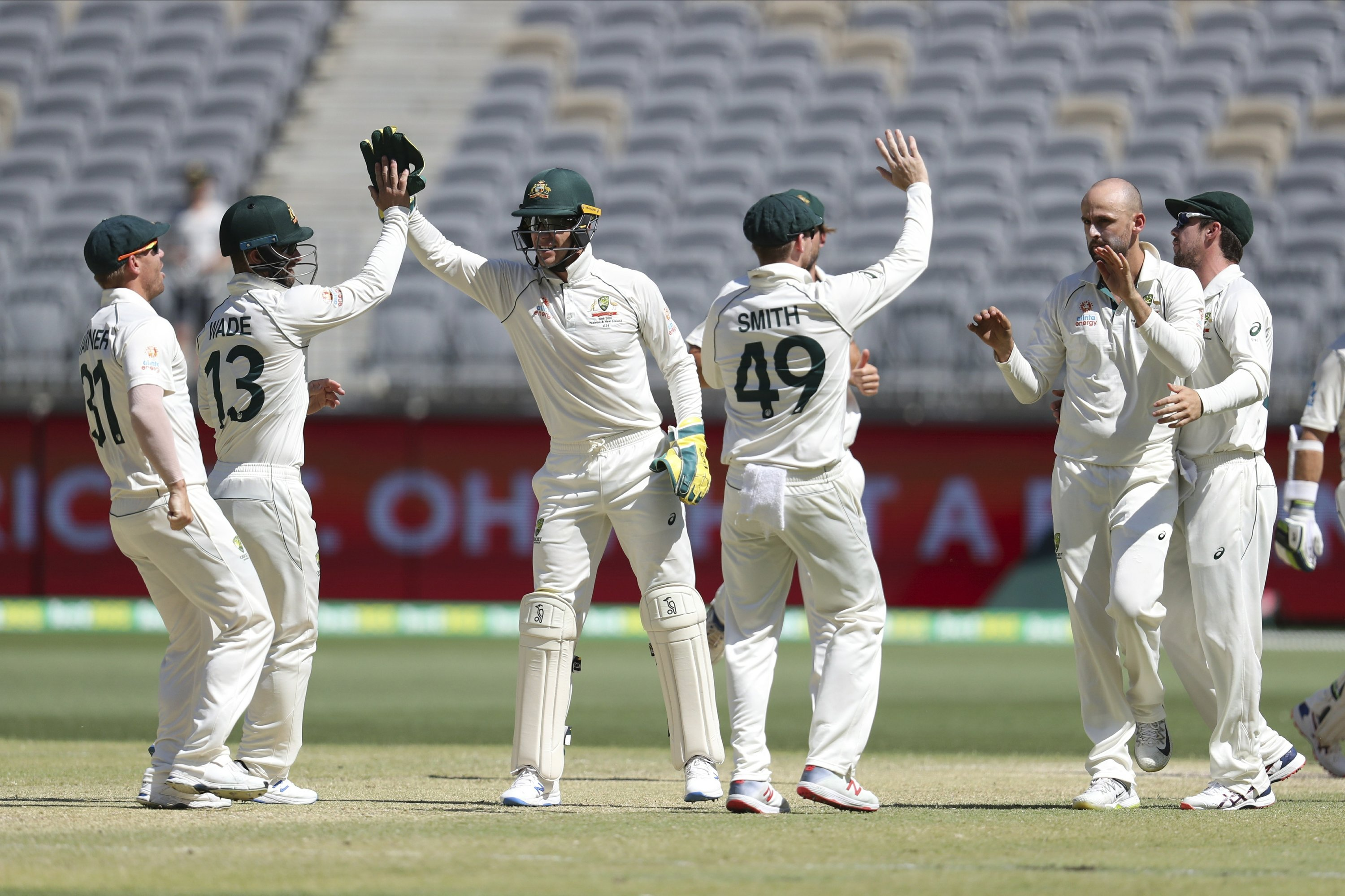 Australia hammers New Zealand by 296 runs to take a 1-0 lead