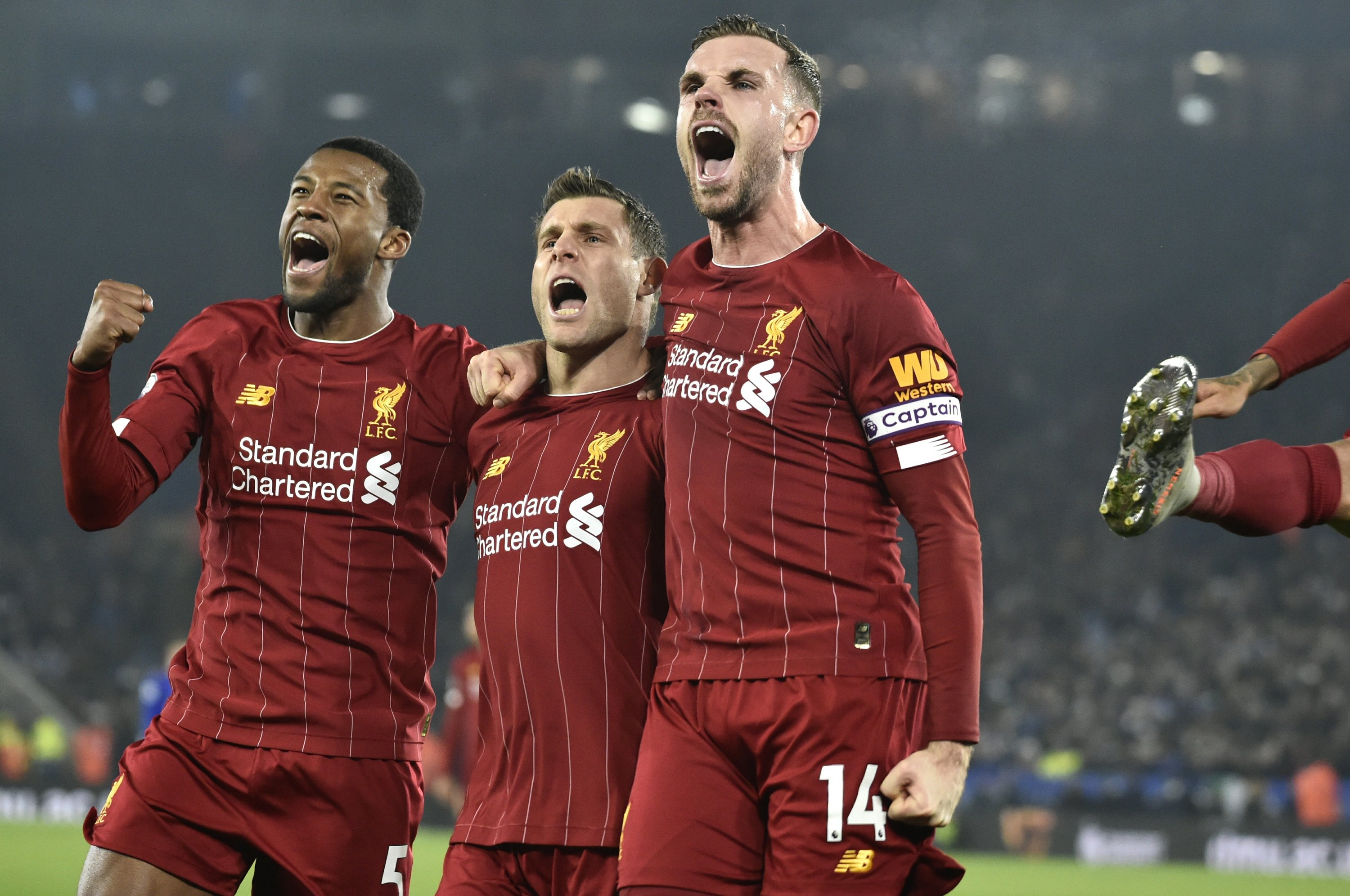 Liverpool Goes 13 Points Clear Of Leicester With 4 0 Win