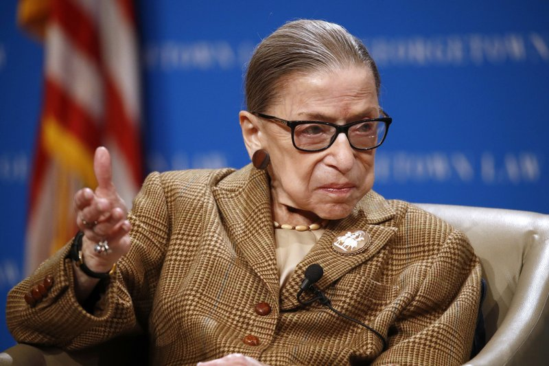 Justice Ruth Bader Ginsburg hospitalized with infection