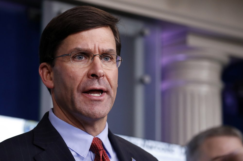 Defense secretary Mark Esper disagrees with President Trump on the use of the military for law enforcement in containing street protests