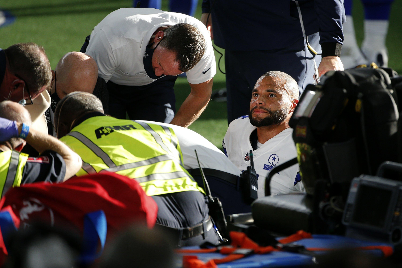 Prescott Has Gruesome Injury Cowboys Rally To Beat Giants