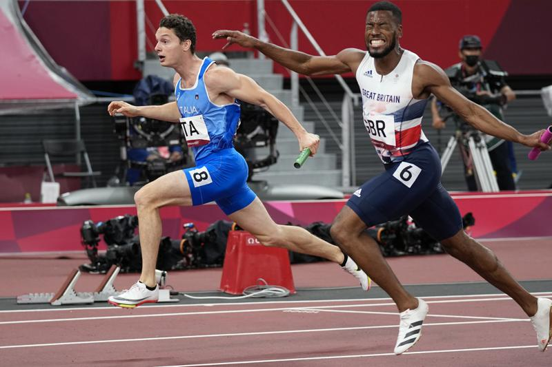 Italy Race to Shock 4×100-meter Relay Gold at Olympics