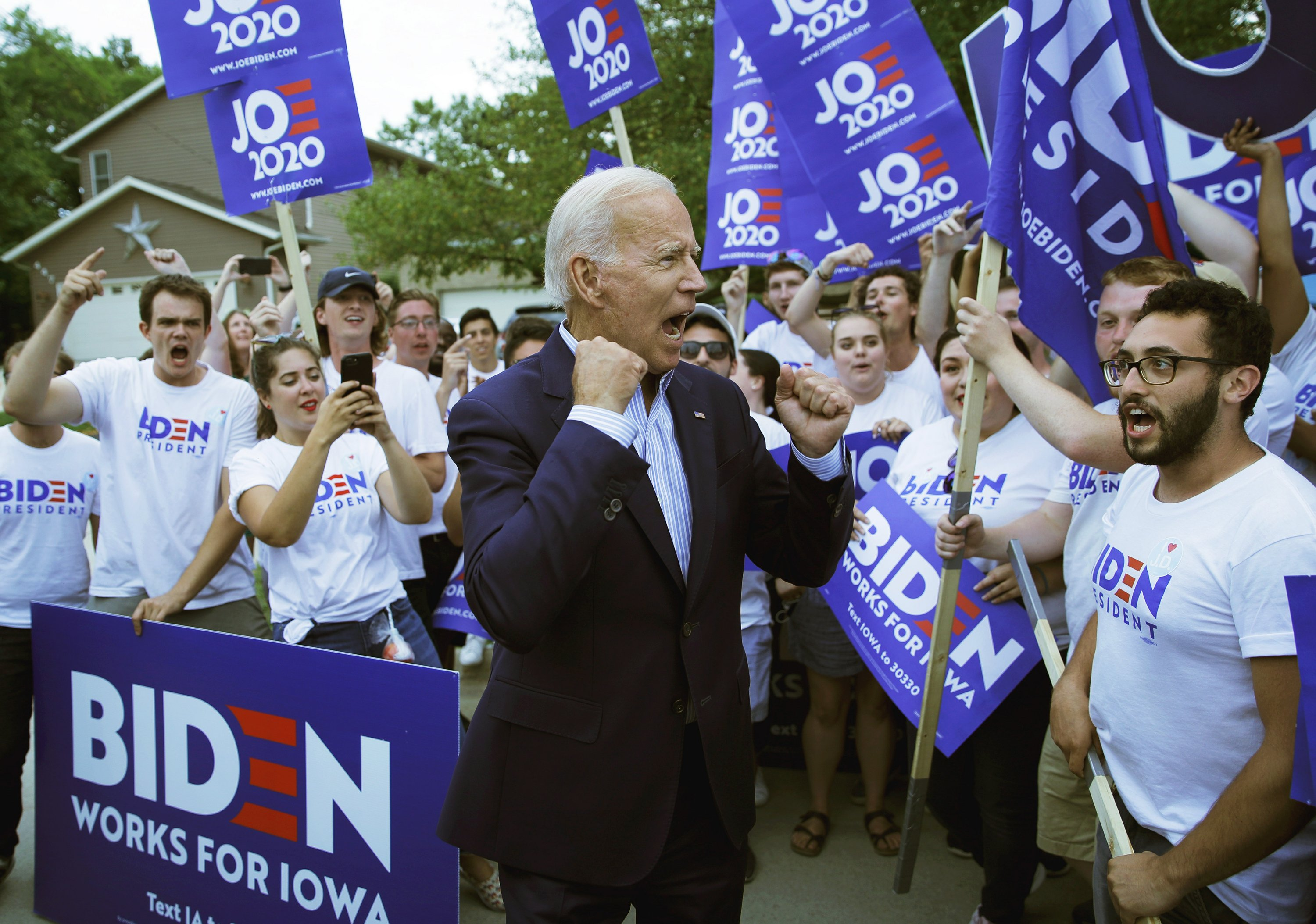 Biden is still the Democrat to beat, but rivals see weakness