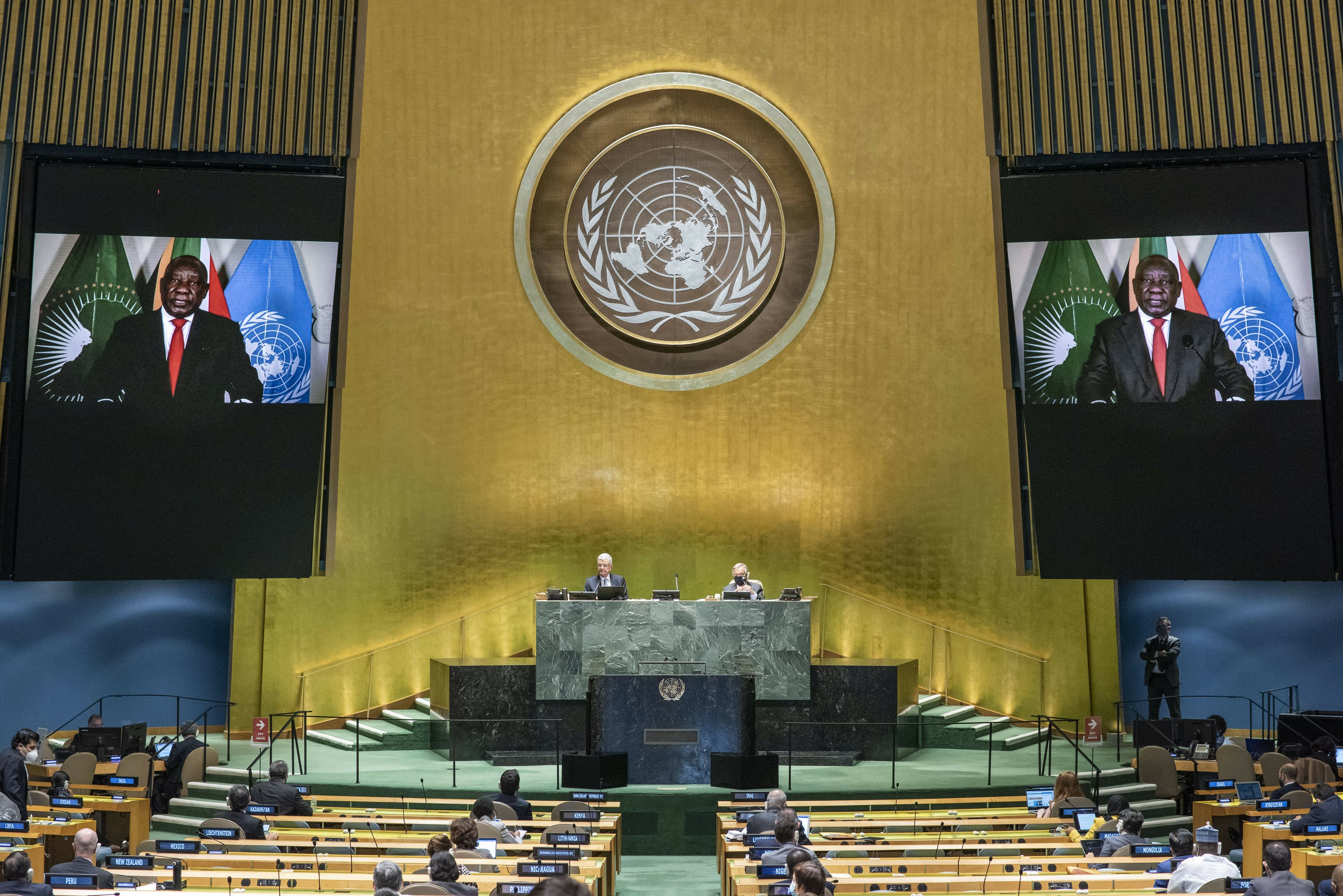 Telling COVID's story: At UN, leaders spin virus storylines